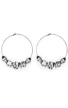 large animal hoop earrings $10.50