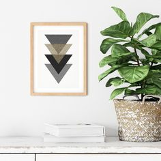 Wall Art Printable, Minimalist Wall Art, Digital Download, Art Printable, Scandinavian Print, Print Monochrome, Home Print, Triangles Print Triangle Print, Print Print, Scandinavian Style, Printable Wall Art, Triangles, House Warming, Monochrome, Digital Prints, Minimalist