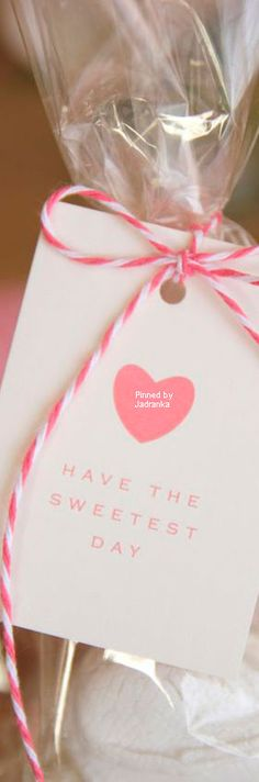 ♔ Valentine's Day Gift Tag 'Have The Sweetest Day' Valentine Treats, Love Valentines, Ps I Love, Heart Day, Wedding Function, Sweet Nothings, Printable Paper, Little Gifts, I Card