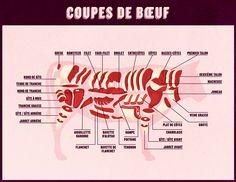 Coupes de boeuf / Beef cuts