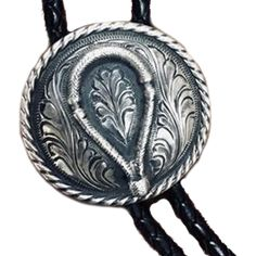7e6599c12 Hand Engraved Sterling Silver Bolo Tie with Sterling Silver Bosal Western  Jewelry, Hand Engraving,