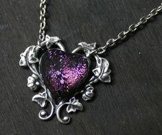 purple heart necklace - http://www.etsy.com/listing/71477490/purple-heart-necklace-with-dichroic?ref=hp_tt_yt