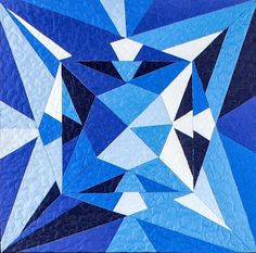 September Birthstone Block: Sapphire – Sparrow Quilt Co. Paper Piecing Patterns, Quilt Block Patterns, Pattern Blocks, Pattern Paper, Quilt Blocks, Paper Quilt, Foundation Piecing, Barn Quilts, Textile Artists