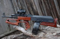 bullpup AK-47 with custom stock by Utah Custom Stocks