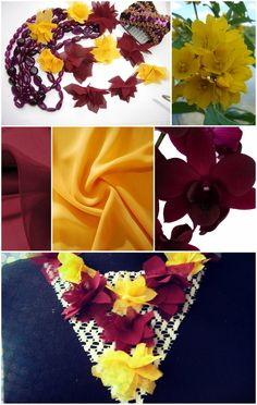 hand-made chiffon flowers for necklace