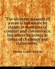 Martin Luther King Jr._how well do you think Obama and his administration are standing up?