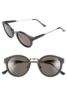 Free shipping and returns on SUPER by RETROSUPERFUTURE® 'Panama' 47mm Round Sunglasses at Nordstrom.com. A matte black finish, dark lenses and gunmetal hardware make these Italian sunglasses ultra-sophisticated, while adjustable nosepads lend comfort to the stylish look.