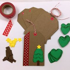 DIY Holiday Christmas Gift Tag Kit Makes 12 di BumpOfKnowledge
