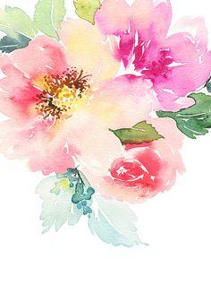 Acuarela tarjeta con flores. Manualidad. - ilustración de arte vectorial
