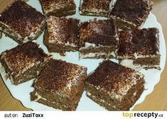 Ořechové řezy bez mouky a cukru recept - TopRecepty.cz Baking With Coconut Flour, Low Carb Keto, Tiramisu, Sweet Tooth, Almond, Cooking Recipes, Sweets, Ethnic Recipes, Desserts