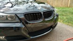 Gloss black dual slat front kidney grilles on BMW Bmw Series, Matte Black, Accessories, Jewelry Accessories
