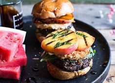 The 50 Greatest Burger Recipes in the Universe Great Burger Recipes, Grilled Burger Recipes, Best Burger Recipe, Gourmet Burgers, Good Burger, Meat Recipes, Guacamole Burger, Beet Burger, Hamburgers