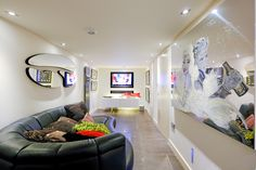 media basement room - by Majik House #smarthome #lighting