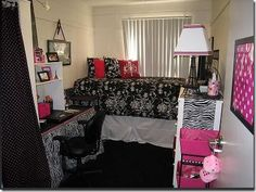 own bedroom in a dorm..I like everything if it was cheetah and the didn't mix patterns.