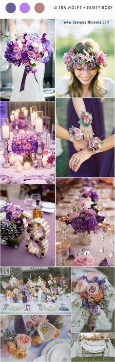 Pantone Wedding Color 2018: 7 Ultra Violet Wedding Color Palette ...