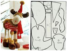 1 million+ Stunning Free Images to Use Anywhere Diy Christmas Videos, Christmas Sewing, Christmas Projects, All Things Christmas, Christmas Moose, Swedish Christmas, Moose Crafts, Holiday Crafts, Felt Christmas Decorations