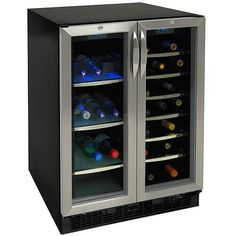 DANBY DBC2706BLS http://www.livingdirect.com/DBC2760BLS-Danby-Dual-Zone-Beverage-Refrigerator-Center-For-Bottles-And-Cans/DBC2760BLS