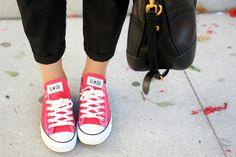 Cute red low top Converse Chucks!