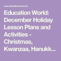 lesson plans and activities   christmas kwanzaa hanukkah and more