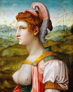 Sibylle, one of the most famous Mannerist Oil Paintings painted by Italian Florentine Renaissance Painter Francesco Bacchiacca, c. 1525-1550