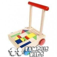 Walker / Premergator din lemn si cuburi Floor Chair, Flooring, Toys, Furniture, Home Decor, Activity Toys, Decoration Home, Room Decor, Clearance Toys