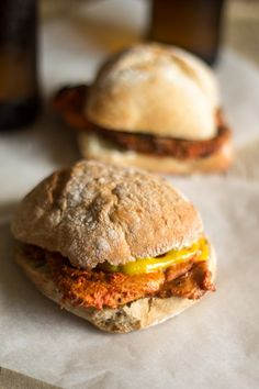Portuguese Recipe: Massa de Pimentão and Bifana Sandwiches  Take a look at the red pepper sauce!