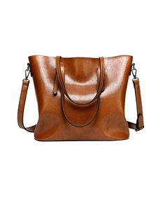 b448407d5015 Women Tote Bag Handle Satchel Vintage Shoulder Bags Purse Large Capacity  Bags - Brown - CI18IO4NWYL