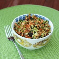 Detox Salad with broccoli, cauliflower, carrots, kale and more.