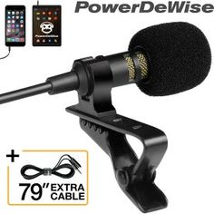 PowerDeWise Professional Lavalier Lapel Microphone ­ with Easy Clip System Paparazzi Accessories, Paparazzi Jewelry, Photo Accessories, Asmr, Macbook Pro, Ipod Touch, Latest Smartphones, Easy Clip, Smartphone