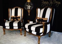 GILTED FRENCH BERGERES CHAIRS - Regency By Design