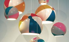 Bring the Sunshine In: Beach Ball Lamp Shades
