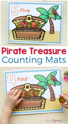 These pirate treasure counting mats make learning to count fun and exciting. They would be perfect for a preschool pirate theme or for kids who love pirates.