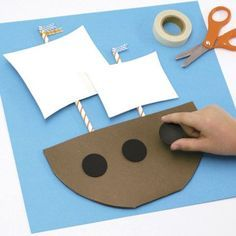 Columbus Day Crafts For Preschool Pirate Ship Craft Ideas Kids on Activities For Columbus Day Images Preschool Projects, Daycare Crafts, Fall Preschool, Kids Crafts, Activities For Kids, Boat Crafts, Craft Kids, Preschool Ideas, Thanksgiving Art
