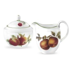 Every teapot needs a sugar and creamer to match. Here's the Royal Worcester Evesham Vale Covered Sugar & Creamer.