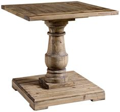Diva At Home Carlough Rustic Stone Gray Salvaged Fir Wood Accent Pedestal Side Table Reclaimed Wood Side Table, Wood End Tables, Salvaged Wood, Coffee Tables, Pedestal Side Table, Wood Pedestal, Rustic Stone, Rustic Wood, Into The Woods