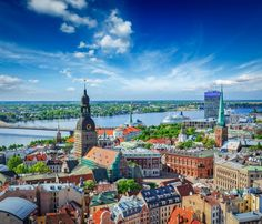Photographic Print: Aerial View of Riga Center from St. Peter's Church, Riga, Latvia by : Uk Holidays, Cities In Europe, Shore Excursions, Cruise Excursions, Destination Voyage, Hotels, Aerial View, Old Town, Trip Advisor