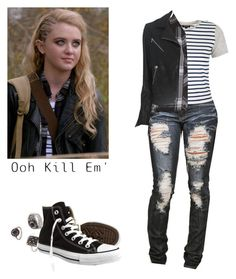 """""""Claire Novak - spn / supernatural"""" by shadyannon ❤ liked on Polyvore featuring Forever 21, Topshop, Rails, Converse and rag & bone"""
