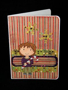 Crafty Card Crafts: Candy Cane Christmas