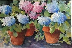 DPW Fine Art Friendly Auctions - Hydrangea Stage by Libby Anderson