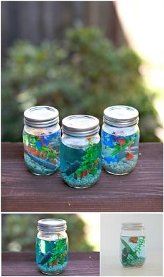 36 Excellent Diy Fish Tank Design Ideas With Mason Jar To Try Asap - If you're serious about your betta fish care then it's important to set up a great betta aquarium. While your fish can live in a small bowl or jar it . Diy Projects For Couples, Diy Craft Projects, Diy Crafts To Sell, Diy Crafts For Kids, Crafts To Make And Sell Unique, Crafts With Glass Jars, Mason Jar Crafts, Survival, Cool Diy