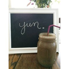 Delicious chocolate peanut butter breakfast smoothie- 1/4 cup whole grain oats, 1 1/2 frozen banana, 2 tbsp peanut butter, 1 tsp vanilla, 1 1/2 tsp cinnamon, 2 tbsp cocoa powder, 1 tbsp honey, handful spinach, 1 1/2 cups unsweetened vanilla almond milk, 2 handfuls ice.  Blend all ingredients except ice together until smooth.  Add ice and blend until desired consistency.