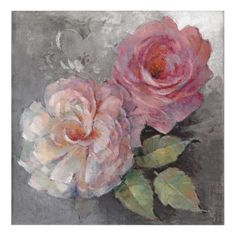 #pink - #Roses on Gray Acrylic Wall Art