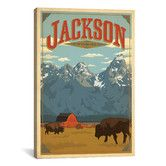 Found it at Wayfair - 'Jackson, Wyoming' by Anderson Design Group Vintage Advertisement on Canvas