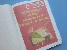 """The 'Pag Ako Yumaman, """"Hu u?"""" Sa'kin 'Yang Piso Fare na 'Yan Travel Notebook Tagalog Quotes Hugot Funny, Cool Journals, Book Cheap Flights, Travel Themes, Travelers Notebook, Wedding Guest Book, Real Weddings, Jokes, Humor"""