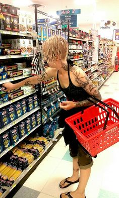 #outfit : Grocery #shopping ~ INFEKTED #outfitoftheday #ootd #outfitpost #outfitblogger #styleblogger #style #gothfashion #rockerchic #tattoos #tattoo #tattoosleeve #ink #inked #inkedgirls #chickswithink