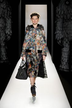 Look 13 on the catwalk, Mulberry Autumn Winter 2012.