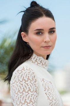 10 hot weather and humidity-friendly hairstyles perfect for spring and summer: Rooney Mara's half bun