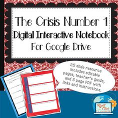 "$TpT Digital Interactive Notebook for use with Google Slides or MS OneDrive. Secondary students interact with the notebook online through their own Google Drive accounts. Pages are standard 8.5 x 11;. Notebooks ask students to conduct brief research on Thomas Paine and the historical context of ""The Crisis Number One."" Then students rhetorically analyze the text. #CloseReading #Rhetoric #DigitalInteractiveNotebook #GoogleDrive #OneDrive"