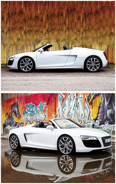 Audi R8 Spyder - When Christian Grey comes for me, he's bringing me this for my birthday. :)