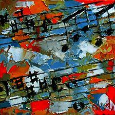 Moonlight Sonata Abstract classical music jazz art paintings by Debra Hurd